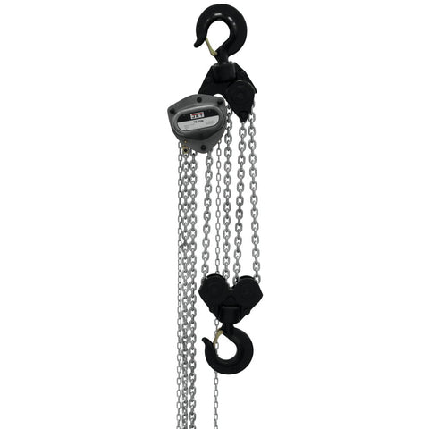 Jet 108100 L-100 1000WO-10 10-Ton Hand Chain Hoist 10' Lift, Overload Protection