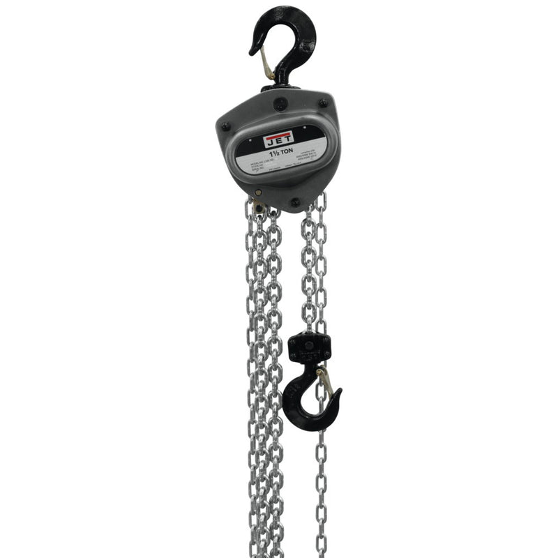 Jet 201120 L-100-150WO-20 1.5-Ton Hand Chain Hoist 20' Lift, Overload Protection