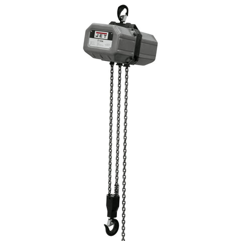 Jet 111000 1SS-1C-10, 1-Ton Electric Chain Hoist 1-Phase 10' Lift