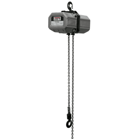 Jet 121150 1/2SS-1C-15, 1/2-Ton Electric Chain Hoist 1-Phase 15' Lift