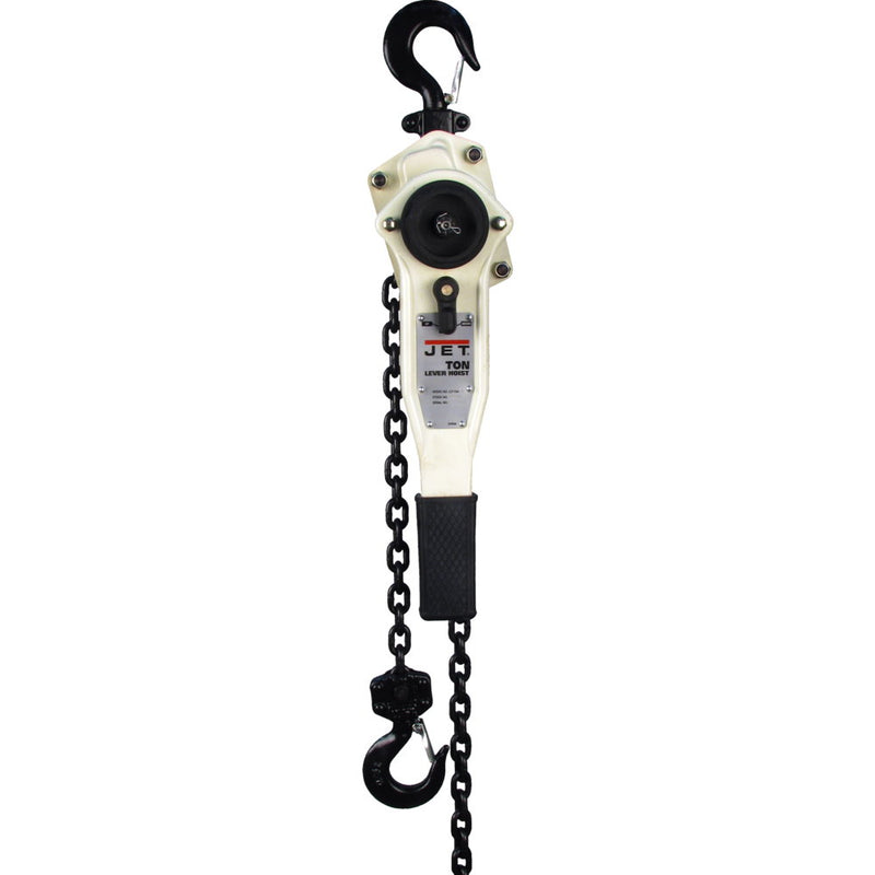 Jet 187768 JLP-150A-15SH, 1.5-Ton Lever Hoist With 15' Lift and Ship Yard Hooks