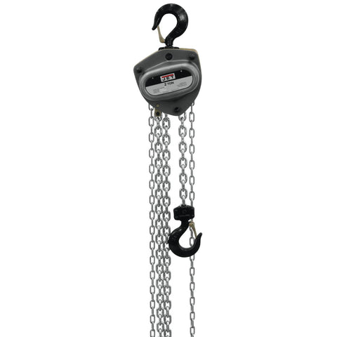 Jet 206130 L-100-200WO-30 2-Ton Hand Chain Hoist 30' Lift, Overload Protection