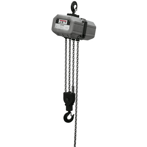 Jet 311500 3SS-1C-15, 3-Ton Electric Chain Hoist 1-Phase 15' Lift