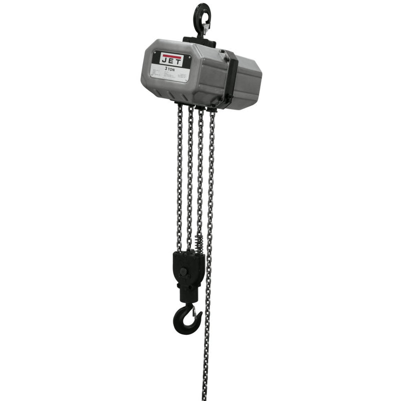 Jet 331500 3SS-3C-15, 3-Ton Electric Chain Hoist 3-Phase 15' Lift