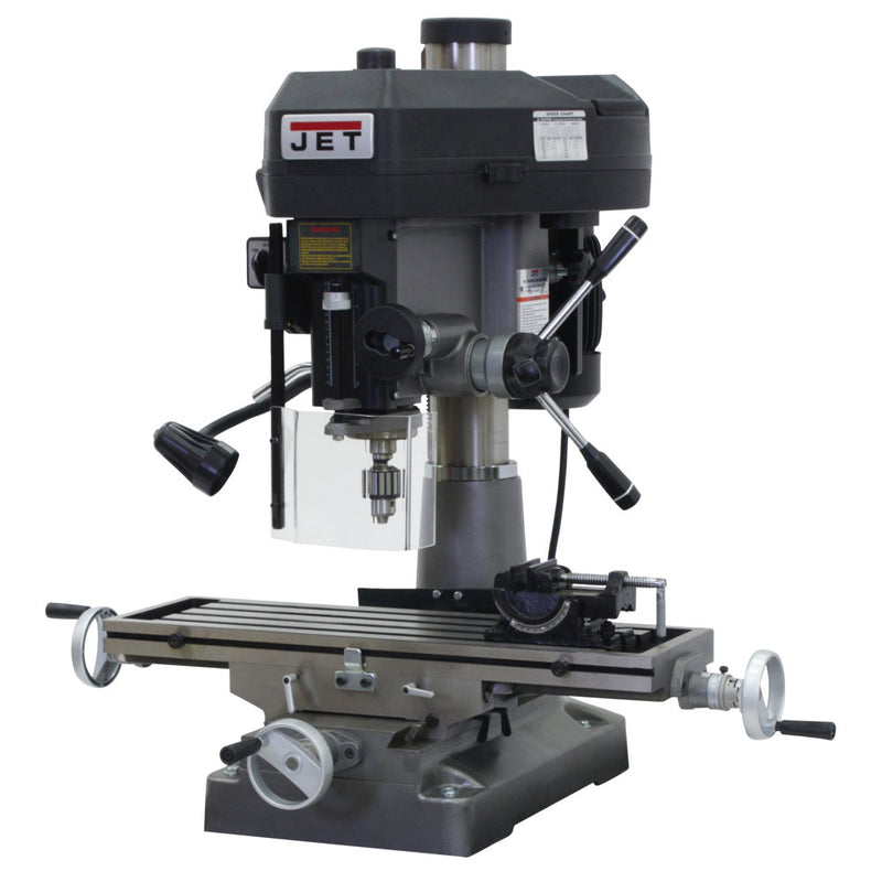 Jet 350134 JMD-18 Mill/Drill With Newall DP500 DRO and X-Axis Table Powerfeed