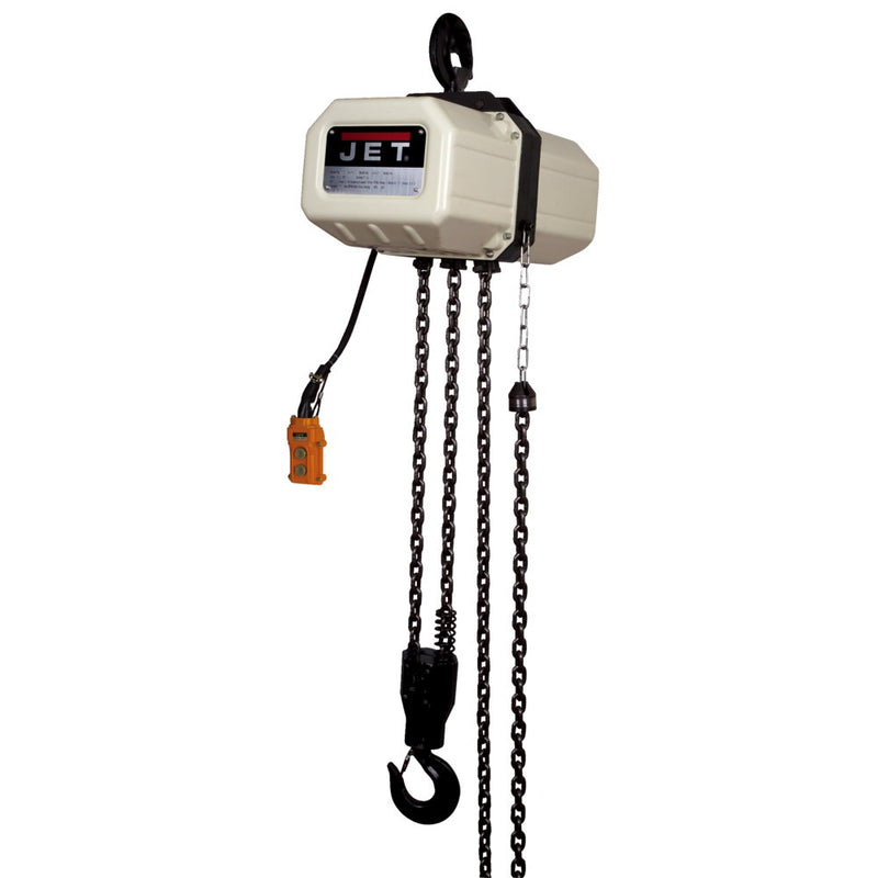 Jet 530200 5SS-3C-20, 5-Ton Electric Chain Hoist 3-Phase 20' lift