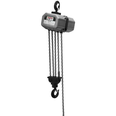 Jet 531000 5SS-3C-10, 5-Ton Electric Chain Hoist 3-Phase 10' lift
