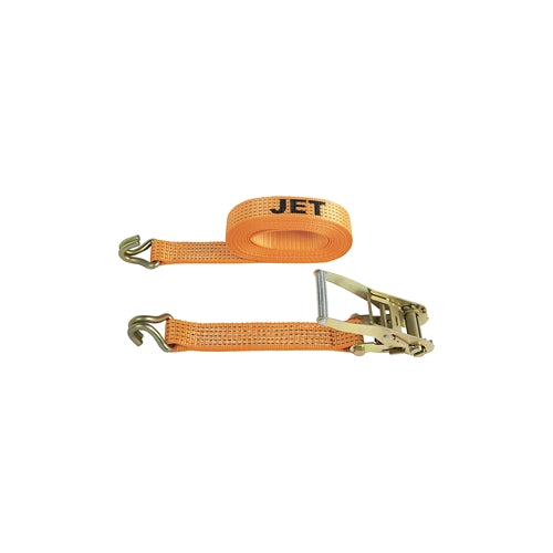 "Jet 583233 RSA-10J 2"" x 27' Ratchet Strap Assy With 7000lb Break Strength J Hook"