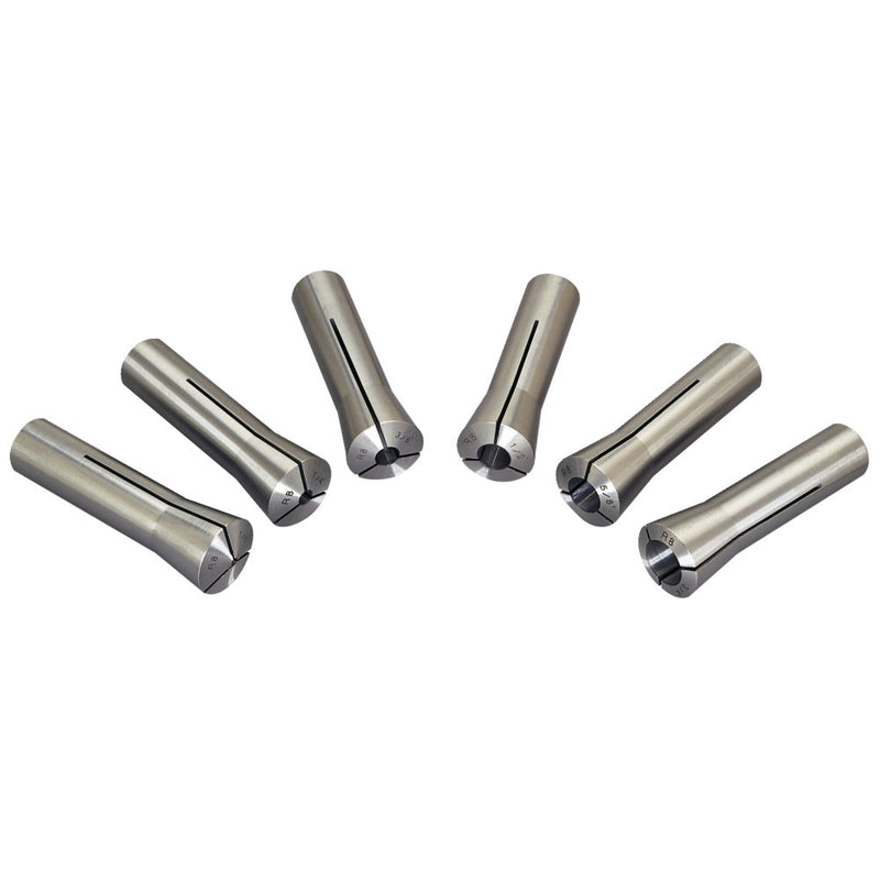 "Jet 650132 CS-R8, 6-piece R-8 Collet Set  1/8"" - 3/4"" (8ths)"