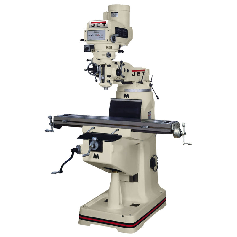 Jet 690052 JTM-1055 Mill With ACU-RITE VUE DRO, X-Axis Powerfeed & Draw Bar
