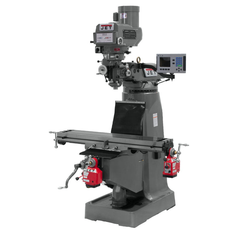 Jet 690068 JTM-4VS-1 Mill, 3-Axis ACU-RITE 200S DRO (Quill), X Y-Axis Powerfeed