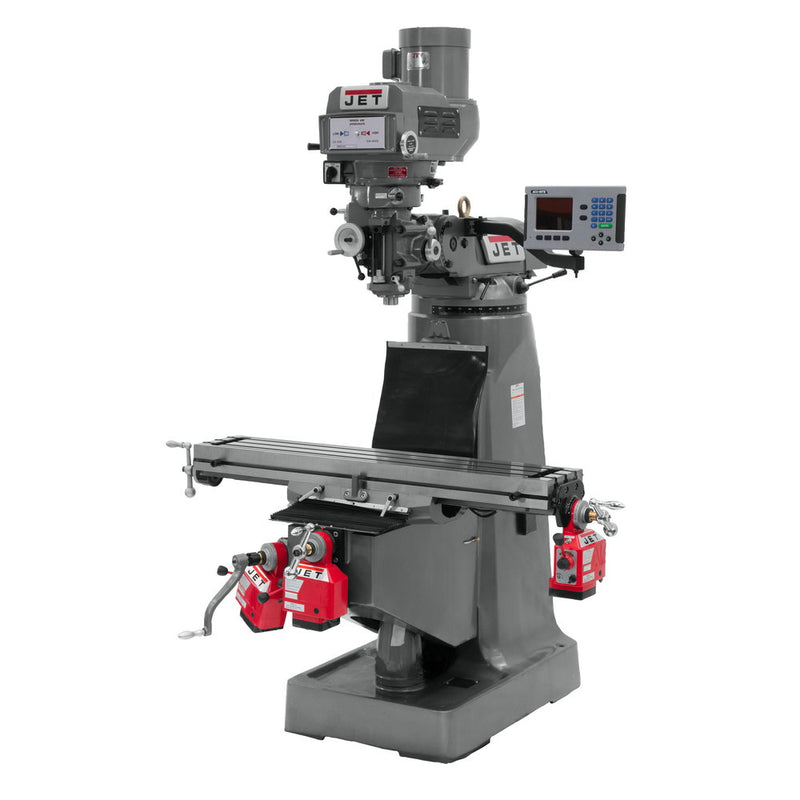 Jet 690118 JTM-4VS-1 Mill, 3-Axis ACU-RITE 300S DRO (Quill), X Y-Axis Powerfeed