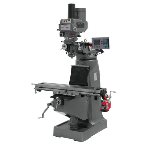 Jet 690125 JTM-4VS Mill, ACU-RITE 200S DRO, X-Axis Powerfeed and Power Draw Bar