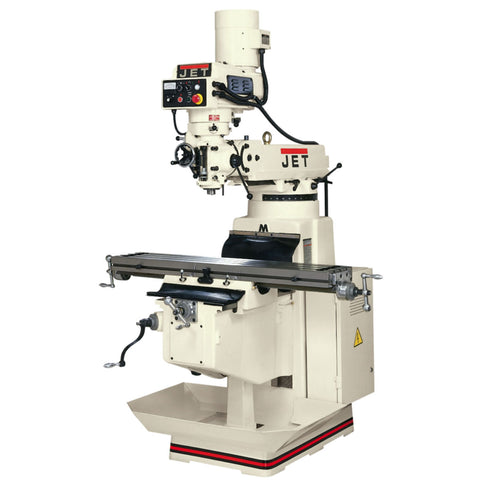 Jet 690138 JTM-1050EVS/460 Mill 3-Axis ACU-RITE 200S DRO (Knee) X-Axis Powerfeed