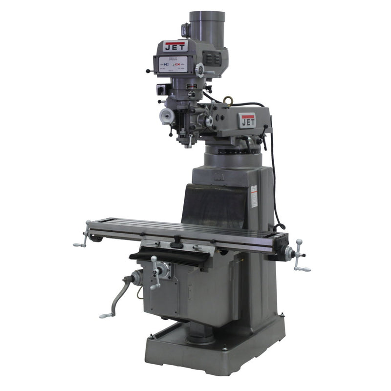 "Jet 690216 JTM-1050 Mill, ACU-RITE 200S DRO, X-Axis Powerfeed and 8"" Riser Block"