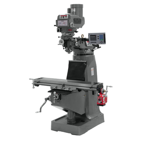 Jet 690221 JTM-4VS Mill 3-Axis ACU-RITE 200S DRO (Quill) and X-Axis Powerfeed
