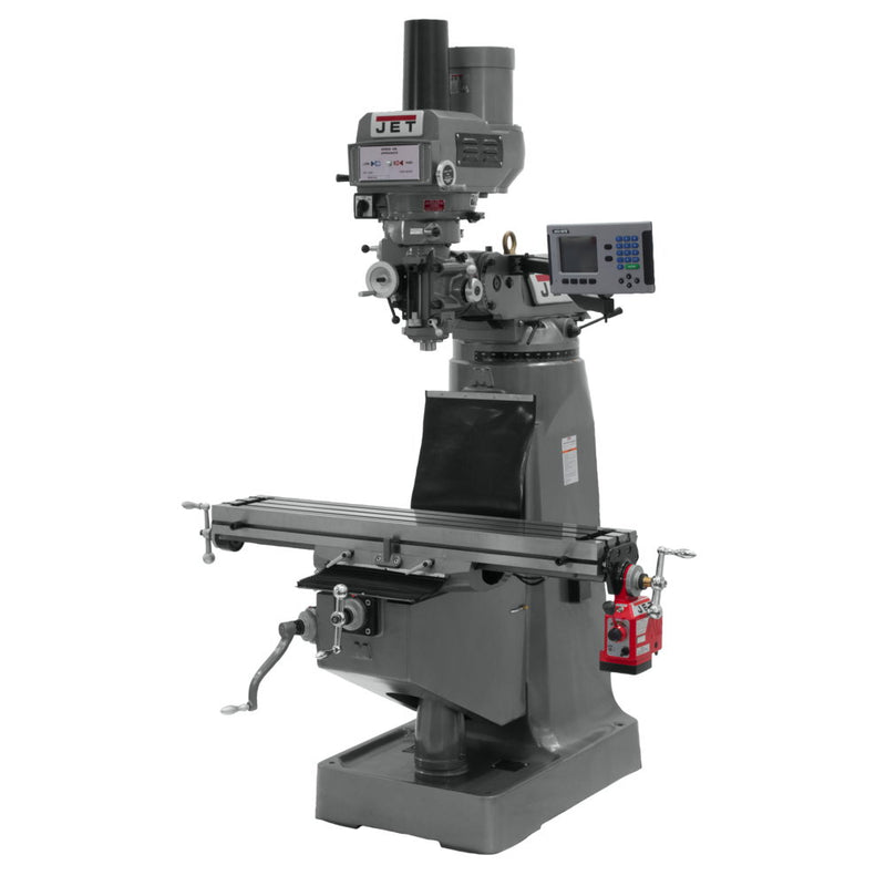 Jet 690251 JTM-4VS Mill, 3-Axis ACU-RITE 200S DRO (Quill), X-Axis, Feed Draw Bar
