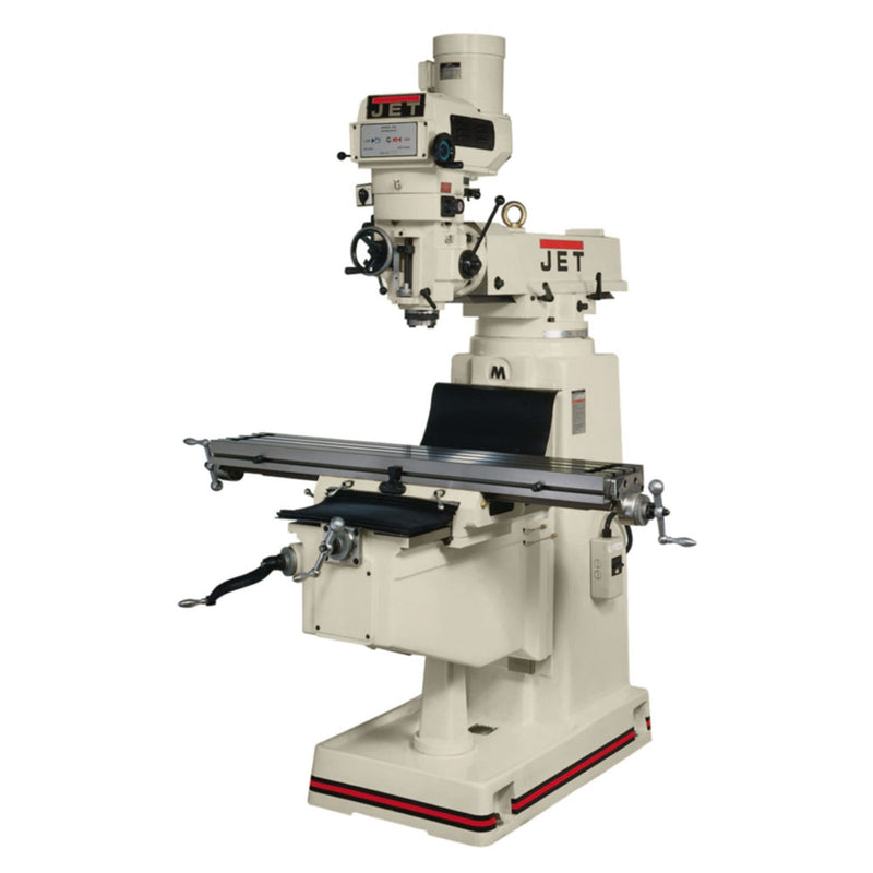 Jet 690330 JTM-1054R Mill With 3-Axis Acu-Rite 200S DRO (Knee) With X-Axis Powerfeed