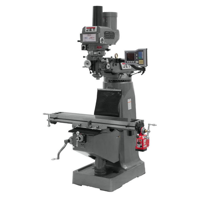 Jet 690415 JTM-4VS Mill, ACU-RITE VUE DRO, X-Axis Powerfeed and Power Draw Bar