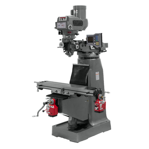 Jet 690420 JTM-4VS Mill With ACU-RITE VUE DRO With X and Y-Axis Powerfeeds