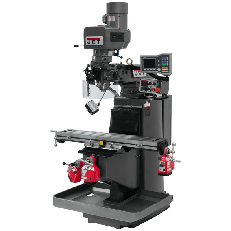 Jet 690509 JTM-949EVS Mill With Acu-Rite VUE DRO With X, Y and Z-Axis Powerfeeds