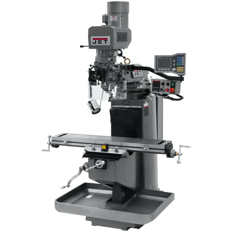 Jet 690510 JTM-949EVS Mill With 3-Axis Acu-Rite VUE DRO (Knee) With X-Axis Powerfeed