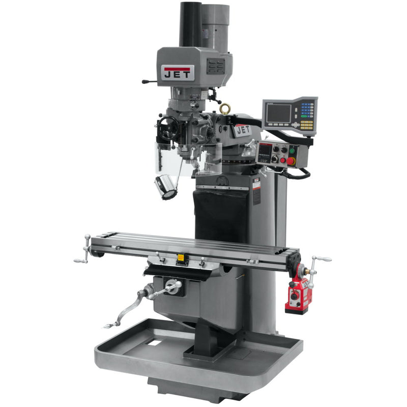 Jet 690511 JTM-949EVS Mill With 3-Axis Acu-Rite VUE DRO (Knee), X Powerfeed, Air Powered Draw Bar