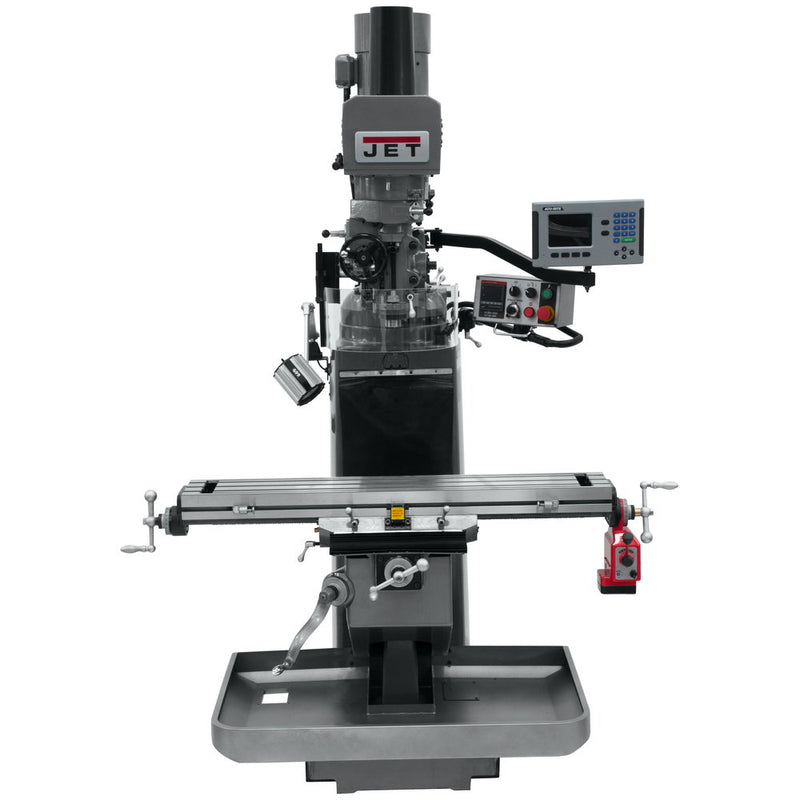 Jet 690526 JTM-949EVS Mill With 3-Axis Acu-Rite 200S DRO (Knee), X Powerfeed, Air Powered Draw Bar