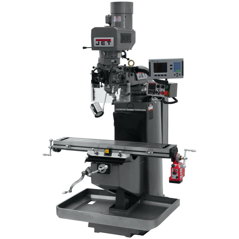 Jet 690530 JTM-949EVS Mill With 3-Axis Acu-Rite 200S DRO (Quill) With X-Axis Powerfeed