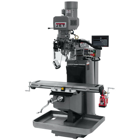 Jet 690545 JTM-949EVS Mill With 3-Axis Newall DP700 DRO (Quill) With X-Axis Powerfeed