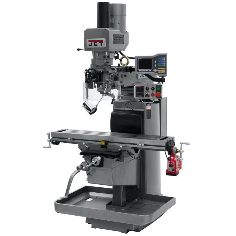 Jet 690611 JTM-1050EVS2 Mill With 3-Axis Acu-Rite VUE DRO (Knee), X Powerfeed, Air Powered Draw Bar