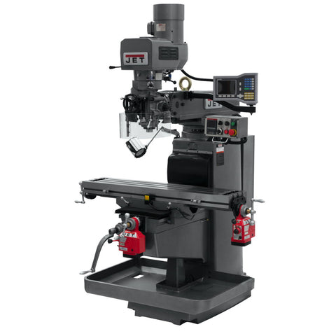 Jet 690612 JTM-1050EVS2/230 Mill With 3-Axis Acu-Rite VUE DRO (Knee) With X and Y-Axis Powerfeeds