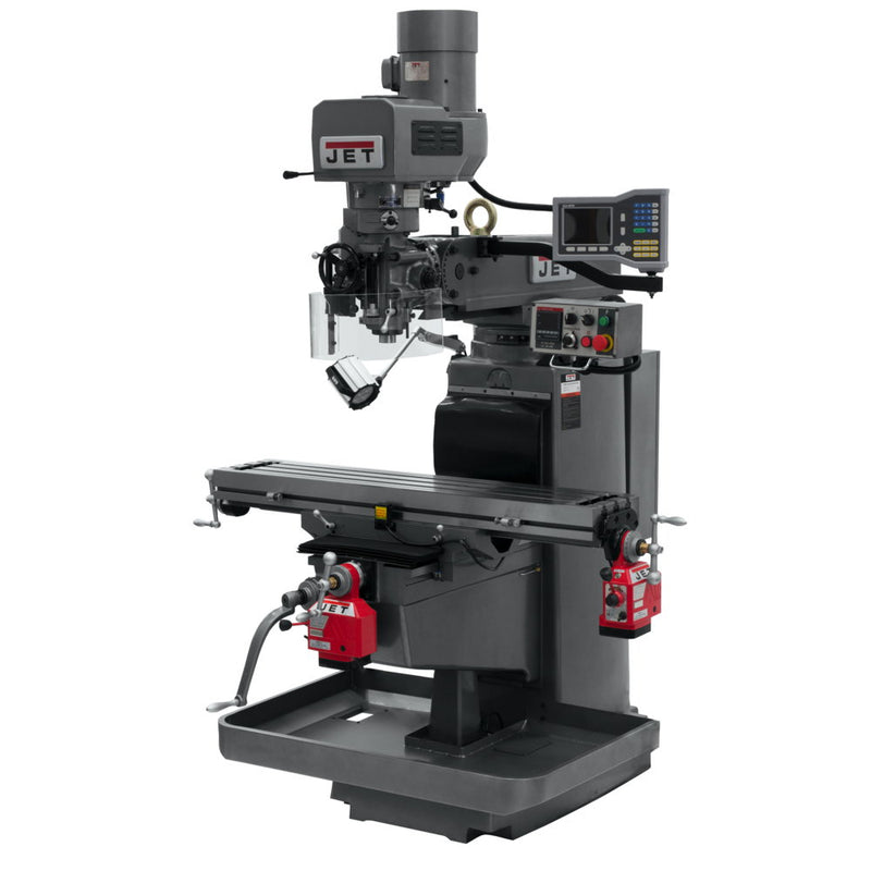 Jet 690616 JTM-1050EVS2/230 Mill With 3-Axis Acu-Rite VUE DRO (Quill) With X and Y-Axis Powerfeeds