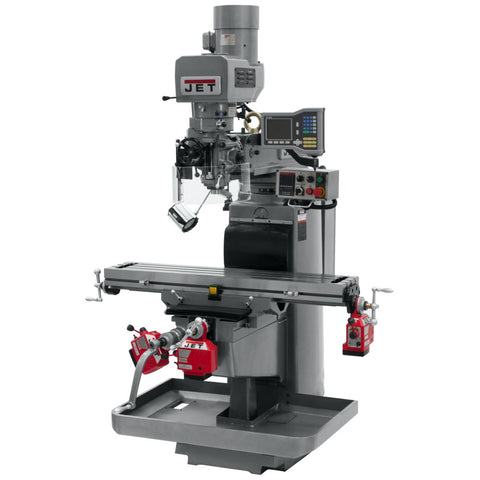 Jet 690618 JTM-1050EVS2/230 Mill With 3-Axis Acu-Rite VUE DRO (Quill), X, Y & Z-Axis Powerfeeds