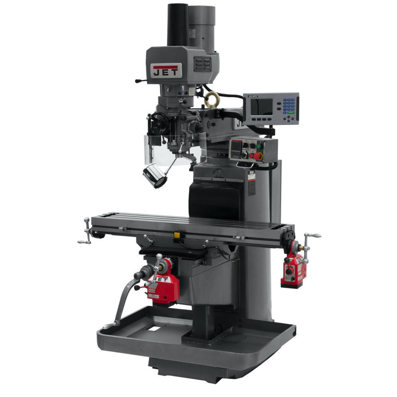 Jet 690627 JTM-1050EVS2 Mill With 3-Axis Knee, AcuRite 200S, X & Y Powerfeeds, Air Powered Draw Bar