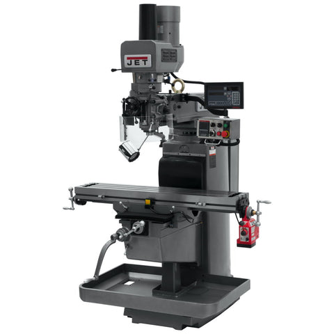 Jet 690640 JTM-1050EVS2 Mill With 3-Axis Newall DP700 DRO (Knee), X Powerfeed, Air Powered Draw Bar
