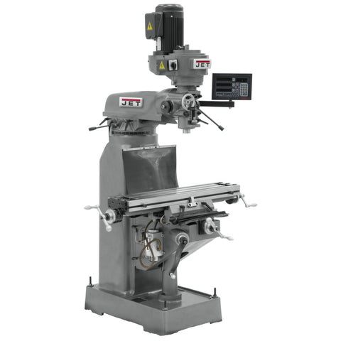 Jet 691185 JVM-836-3 Mill, 3-Axis Newall DP700 DRO (Quill) With X-Axis Powerfeed
