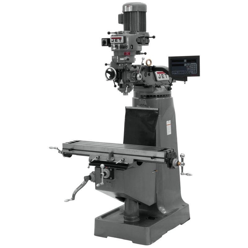 Jet 691196 JTM-1 Mill With 3-Axis Newall DP700 DRO (Knee)