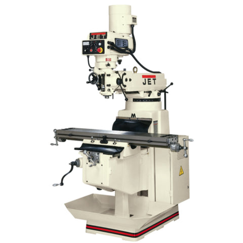 Jet 691221 JTM-1050EVS/460 Mill 3-Axis Newall DP700 DRO Quill X Y-Axis Powerfeed