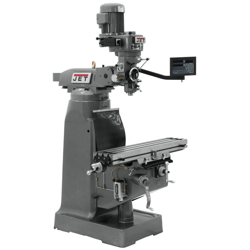 Jet 691228 JVM-836-1 Mill With 3-Axis Newall DP700 DRO (Knee)