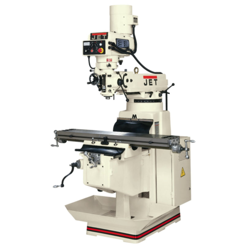 Jet 691231 JTM-1050EVS/460 Mill, Newall DP700 DRO X Y-Axis Feed, Power Draw Bar