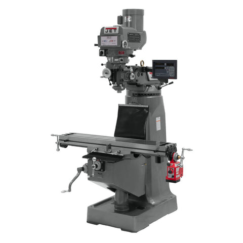 Jet 691232 JTM-4VS Mill, 3-Axis Newall DP700 DRO (Knee) With X-Axis Powerfeed