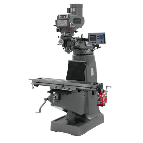 Jet 691411 JTM-4VS-1 Mill, 3-Axis ACU-RITE 200S DRO (Knee) With X-Axis Powerfeed