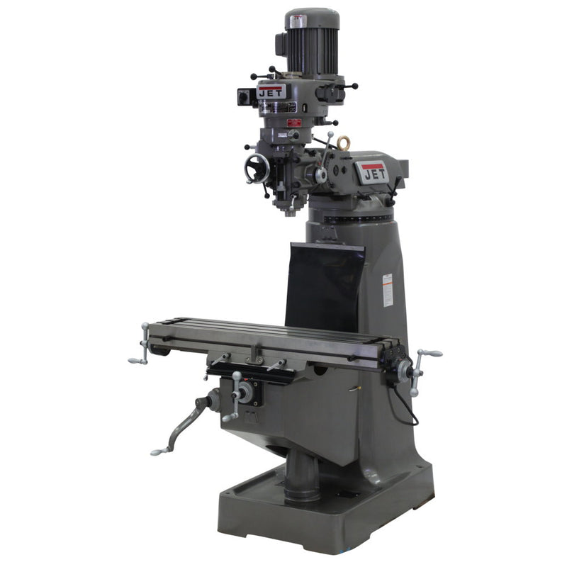 Jet 692192 JTM-1 Mill With 3-Axis Newall DP500 DRO (Quill) With X & Y-Axis Powerfeeds