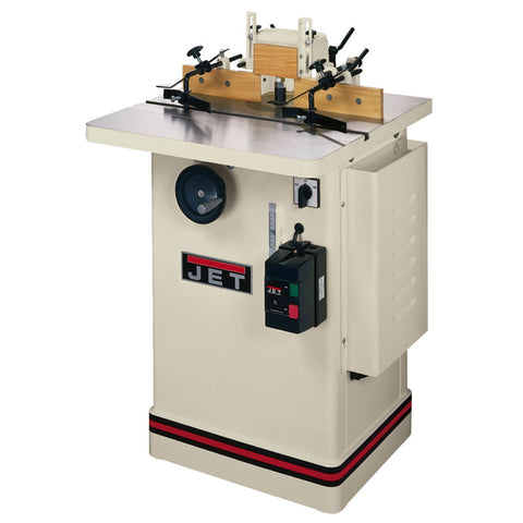 "Jet 708322 JWS-25CS, 3HP Shaper, 1Ph 230V, 1/2""and3/4"" Spindles, 25""x25"" Table"