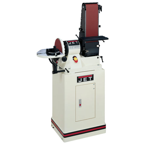 "Jet 708597K JSG-96CS: 6""x48"" Belt / 9"" Disc Sander W Closed Stand 3/4HP 1Ph, 115V"