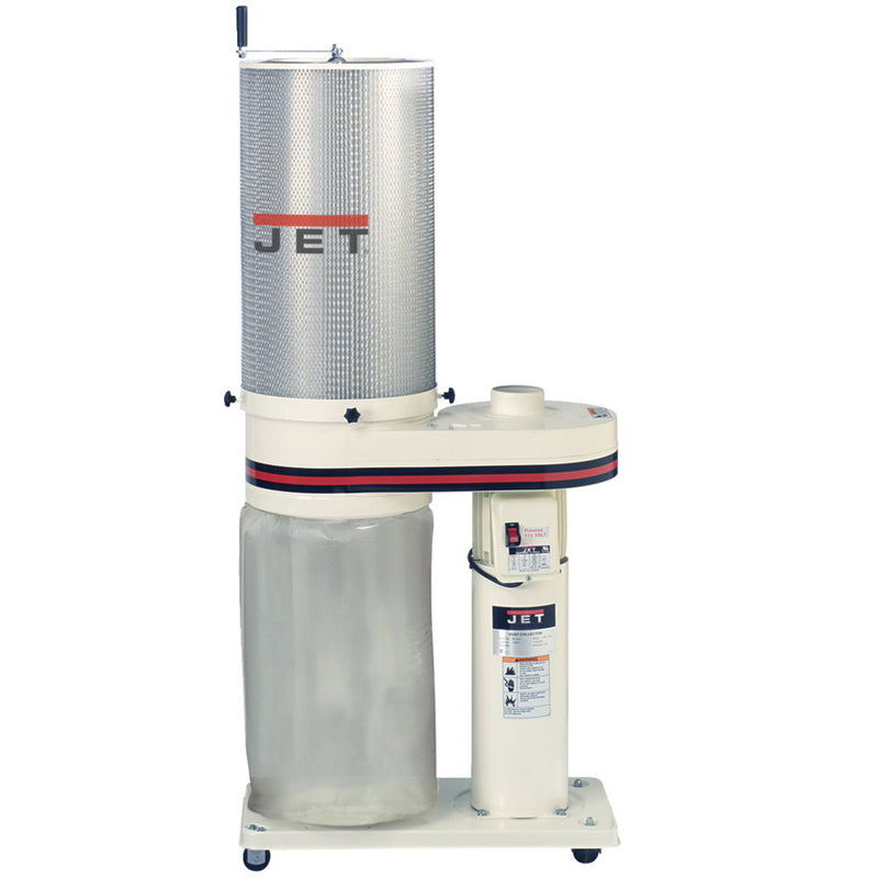 Jet 708642CK 1HP, 650CFM Dust Collector with 1 Micron Canister Filter