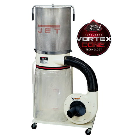 Jet 708659K Dust Collector, 1.5HP 1PH 115/230V, 2-Micron Canister Kit