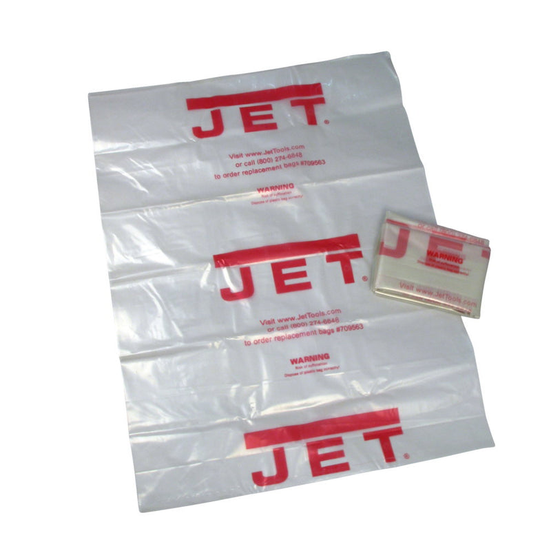 "Jet 709565 CB-5, Clear Plastic 14"" Diameter Collection Bag"
