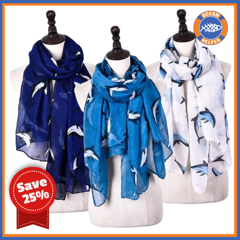 Dolphin Lover Scarf - 25% Off